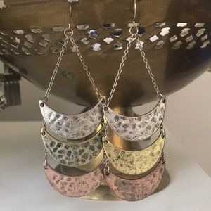 Jewelry - Mixed Metal Dangle Earrings